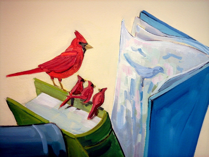 Story hour with cardinals